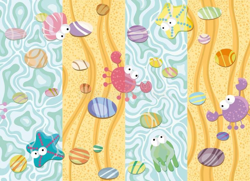 θάλασσα άμμου διανυσματική απεικόνιση
