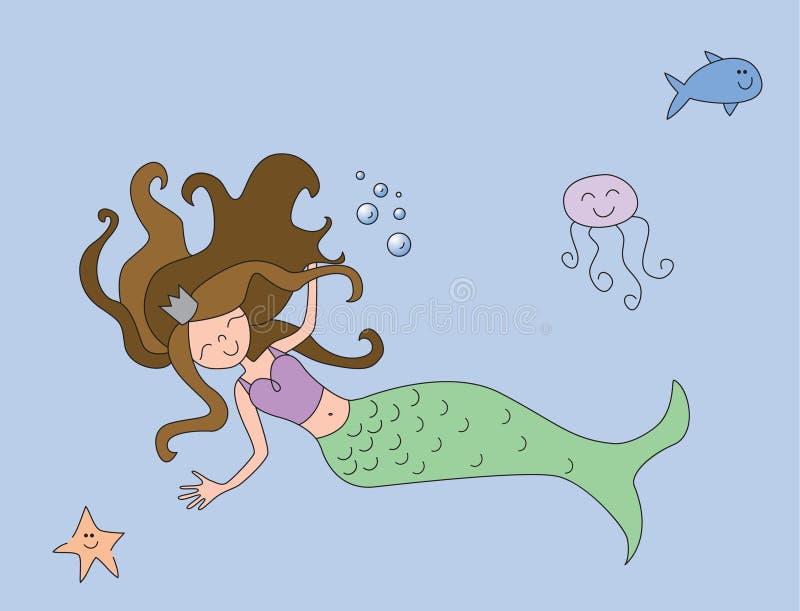 θάλασσα κάτω διανυσματική απεικόνιση