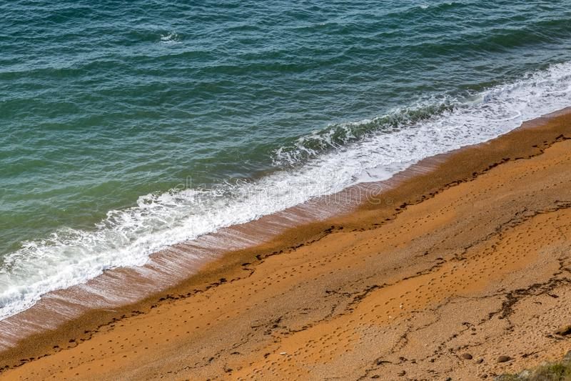 Θάλασσα και άμμος στη ράχη φαλαινών στοκ φωτογραφίες με δικαίωμα ελεύθερης χρήσης