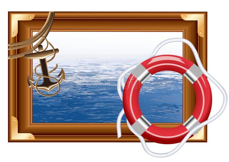 θάλασσα πλαισίων ελεύθερη απεικόνιση δικαιώματος
