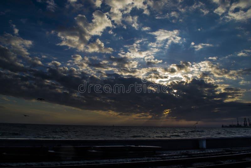 Θάλασσα σε Berdynsk στοκ εικόνα