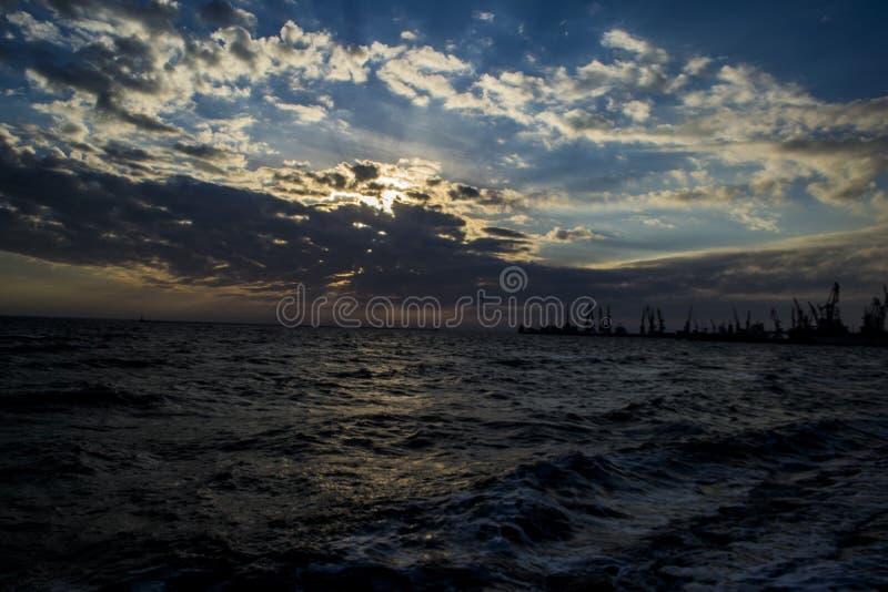 Θάλασσα σε Berdynsk στοκ φωτογραφίες