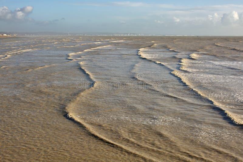 Θάλασσα σε Worthing, Σάσσεξ, Αγγλία στοκ φωτογραφίες