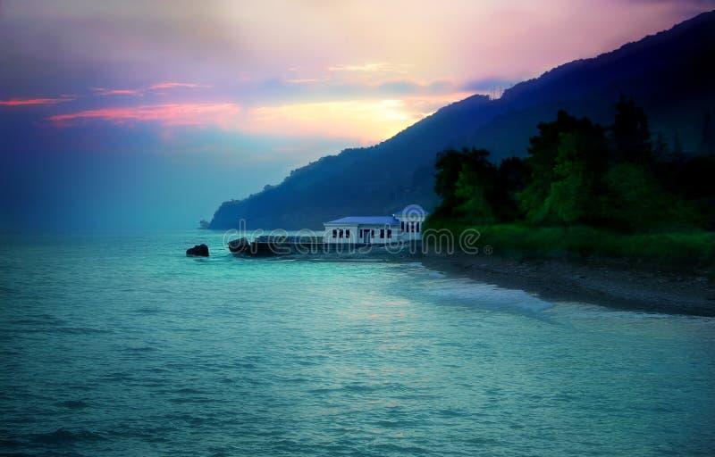 θάλασσα σπιτιών στοκ φωτογραφία