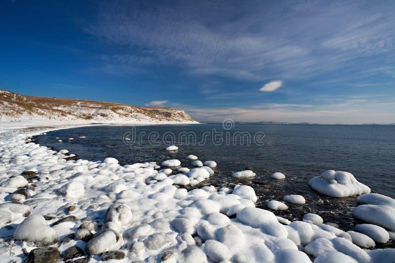 Θάλασσα της Ιαπωνίας το χειμώνα 4 στοκ εικόνες