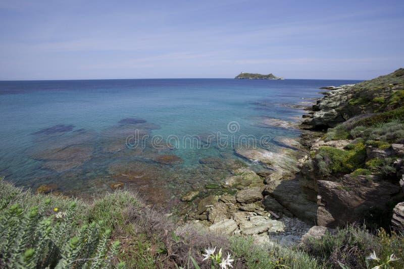 θάλασσα της Κορσικής στοκ εικόνες με δικαίωμα ελεύθερης χρήσης
