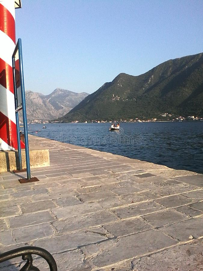Θάλασσα Adriatik Perast, Boka Kotorska, Μαυροβούνιο στοκ φωτογραφίες με δικαίωμα ελεύθερης χρήσης