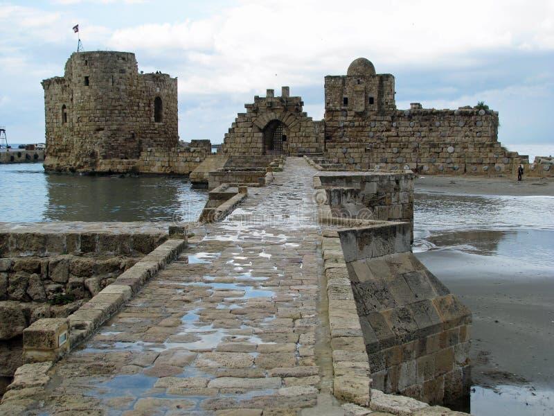 Θάλασσα Castle Sidon (Λίβανος) στοκ εικόνα με δικαίωμα ελεύθερης χρήσης