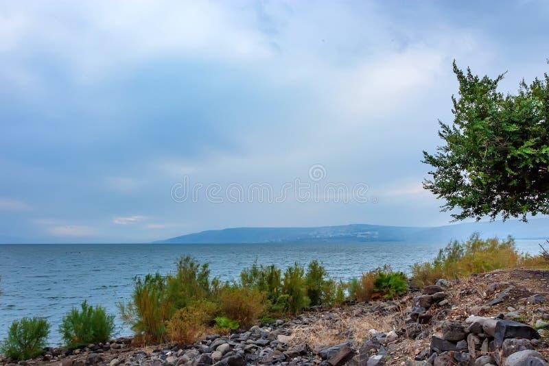 Θάλασσα Galilee στο Ισραήλ στοκ εικόνες
