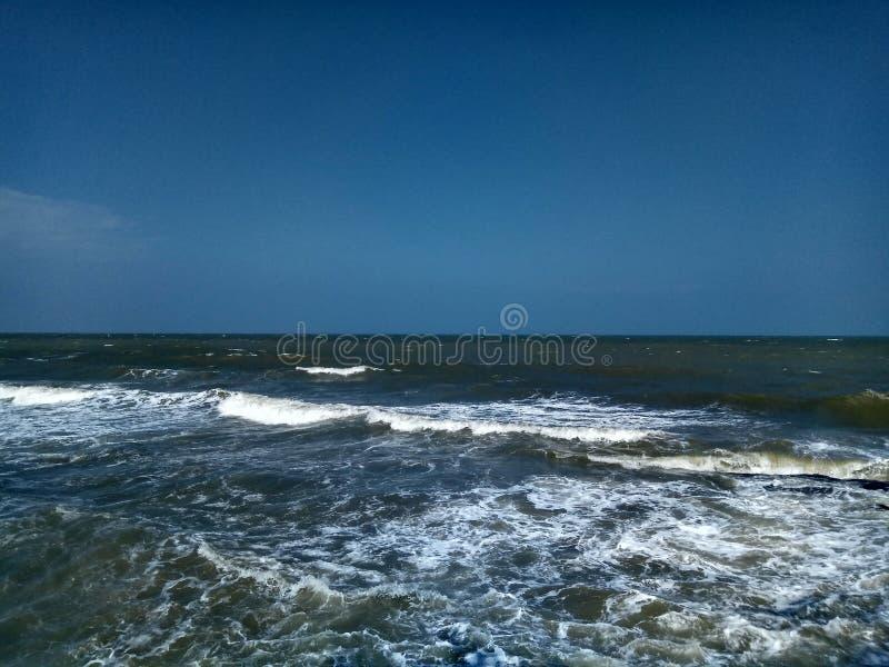 Θάλασσα Hua Hin Ταϊλάνδη στοκ φωτογραφία