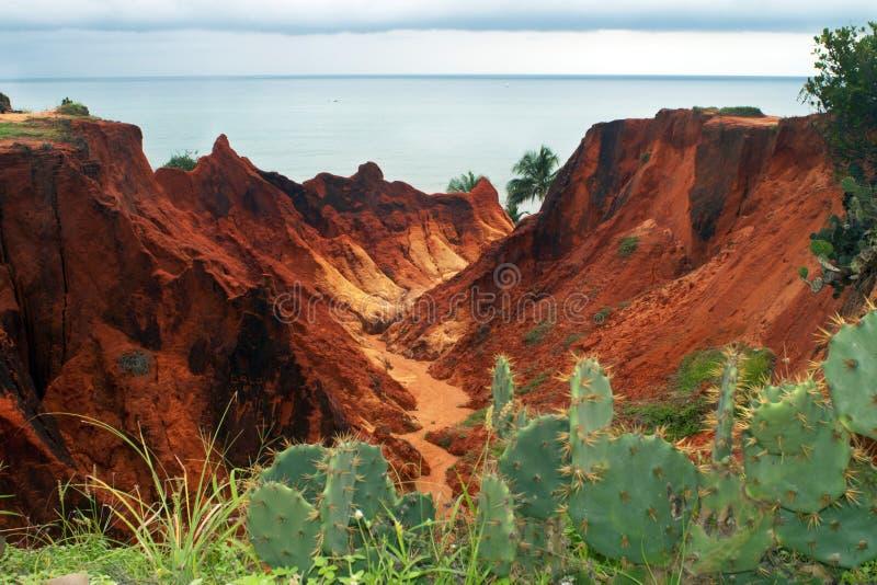θάλασσα morro απότομων βράχων branco στοκ εικόνες