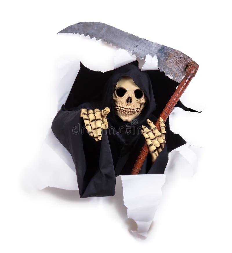 Θάνατος με ένα δρεπάνι στοκ φωτογραφία με δικαίωμα ελεύθερης χρήσης
