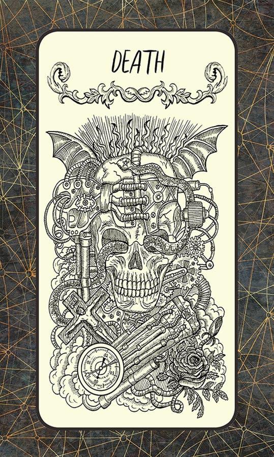 θάνατος Σημαντική κάρτα Arcana Tarot απεικόνιση αποθεμάτων
