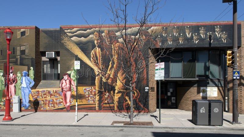 ` Θάρρος ` χαρτογράφησης από Willis ` Nomo ` Humprey, νότια οδός, Φιλαδέλφεια στοκ φωτογραφίες