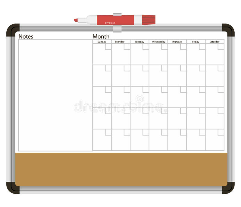 Θάλαμος πληροφοριών με το ημερολόγιο διανυσματική απεικόνιση