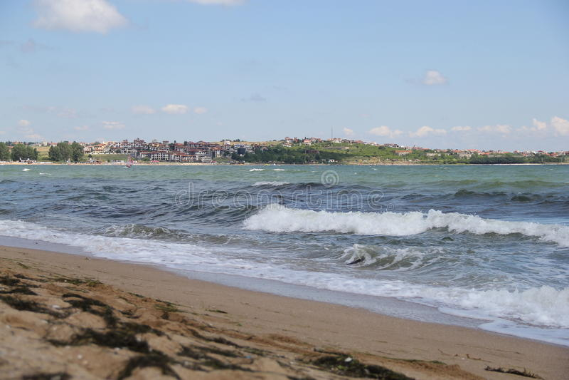 Θάλασσα, άμμος, κύμα, έτος 2014 στοκ φωτογραφίες με δικαίωμα ελεύθερης χρήσης