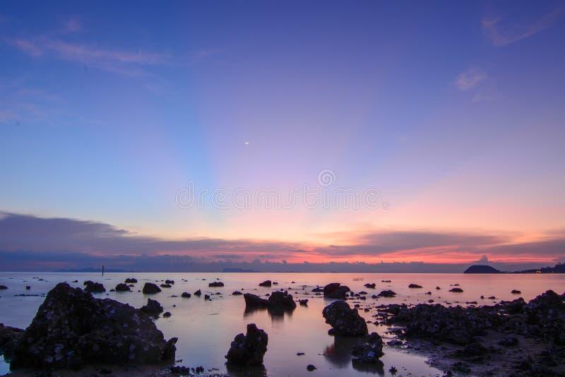Θάλασσα βραδιού στοκ φωτογραφίες με δικαίωμα ελεύθερης χρήσης