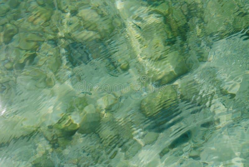 Θάλασσα κάτω από τους βράχους στοκ φωτογραφία