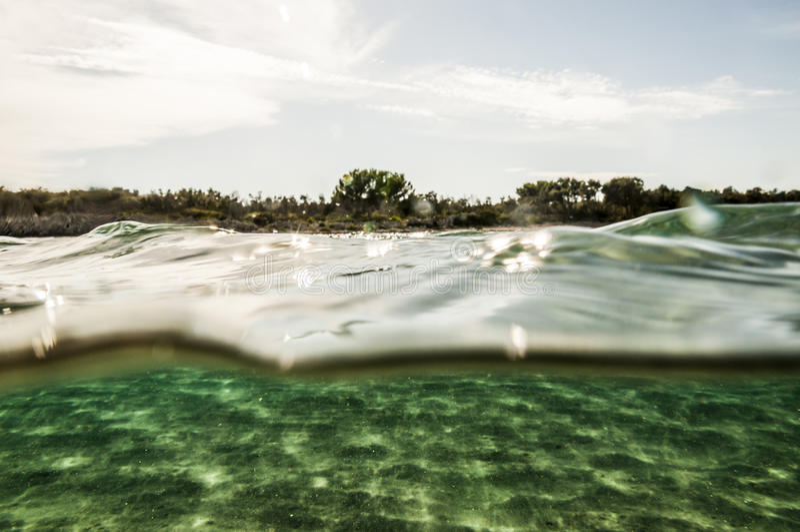 Θάλασσα και ουρανός στοκ φωτογραφία