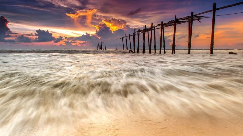 Θάλασσα κατά τη διάρκεια του ηλιοβασιλέματος στοκ φωτογραφία με δικαίωμα ελεύθερης χρήσης