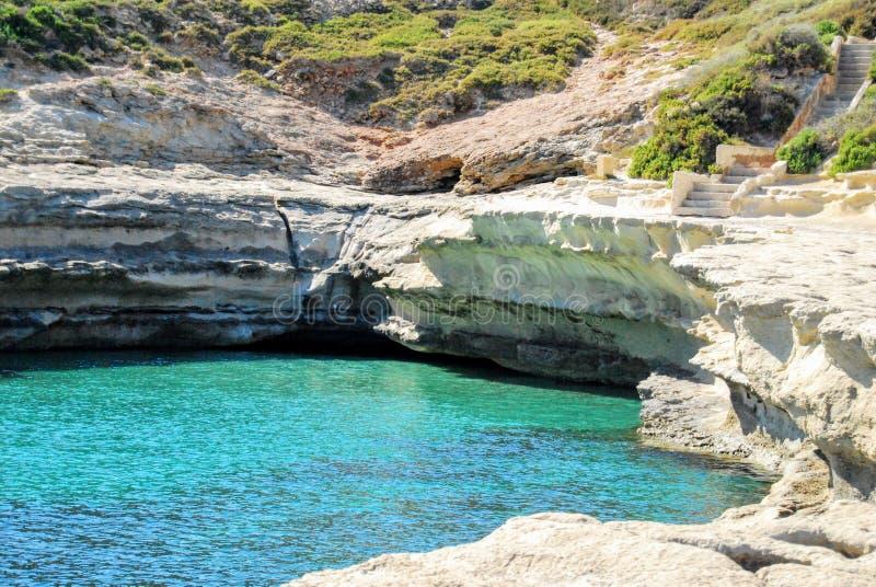 Θάλασσα Μάλτα Delemara στοκ φωτογραφίες με δικαίωμα ελεύθερης χρήσης