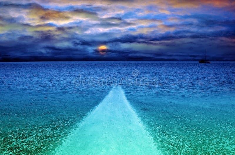 θάλασσα μονοπατιών στοκ εικόνες με δικαίωμα ελεύθερης χρήσης