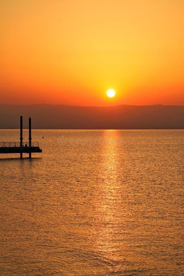 Θάλασσα της ανατολής Galilee στοκ εικόνες