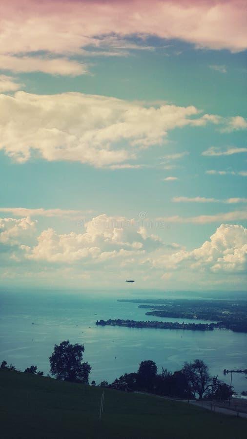 Θάλασσα της Γερμανίας Bodensee Zeppelin στοκ εικόνα με δικαίωμα ελεύθερης χρήσης