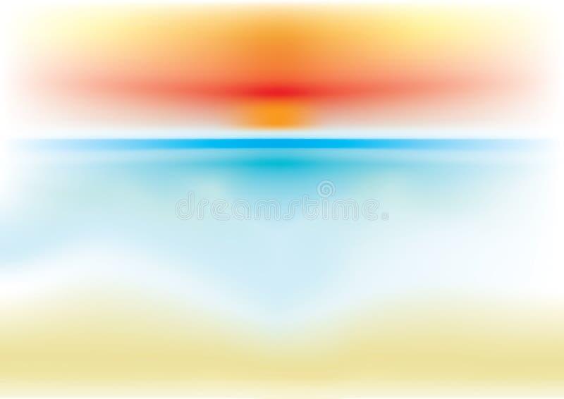 Θάλασσα υποβάθρου διανυσματική απεικόνιση