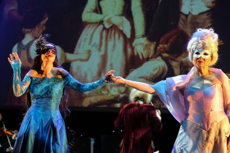 Θέαμα που χαρακτηρίζει Filharmonia Futura και Μ Walewska - η όπερα είναι ζωή στοκ εικόνες