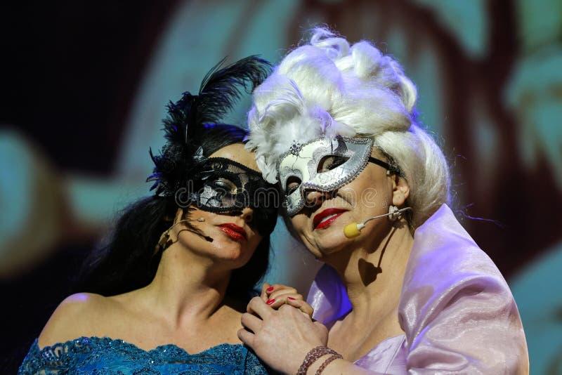 Θέαμα που χαρακτηρίζει Filharmonia Futura και Μ Walewska - η όπερα είναι ζωή στοκ φωτογραφία