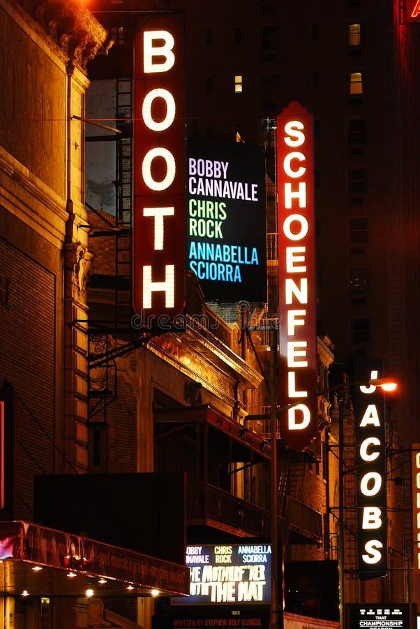 Θέατρα Broadway στοκ φωτογραφία με δικαίωμα ελεύθερης χρήσης