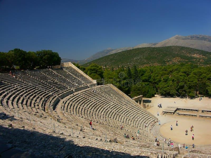 θέατρο αρχαίου Έλληνα στοκ φωτογραφία με δικαίωμα ελεύθερης χρήσης