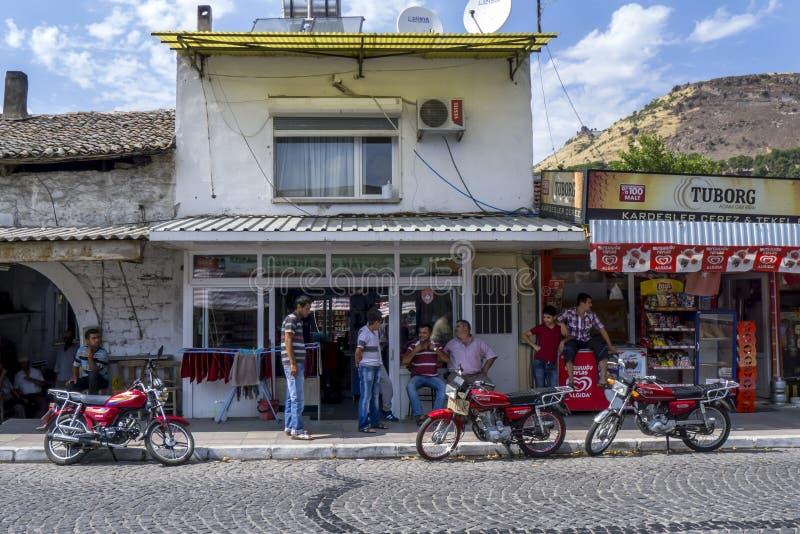 Θέατρο δρόμου στη Βεργκάμα της Τουρκίας στοκ εικόνα