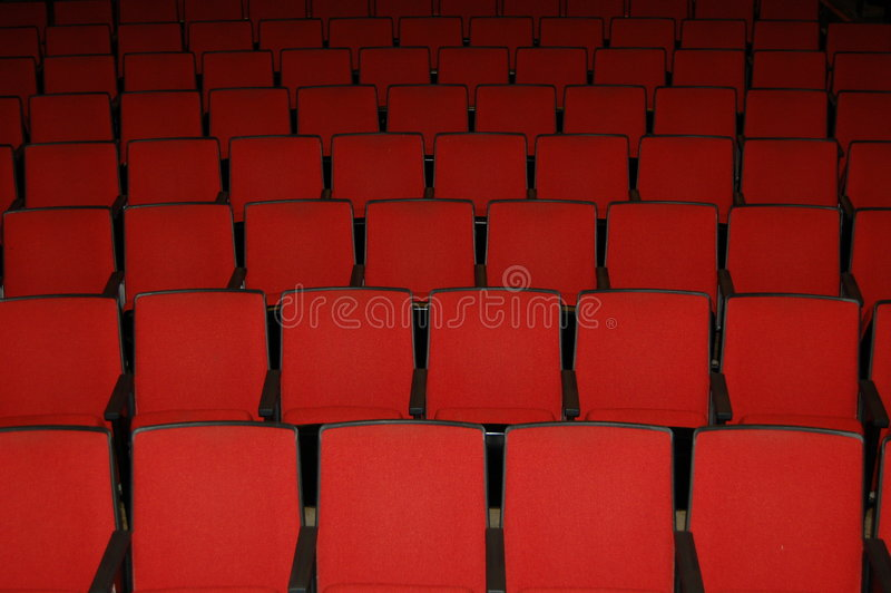θέατρο καθισμάτων κινηματογράφων στοκ εικόνες με δικαίωμα ελεύθερης χρήσης