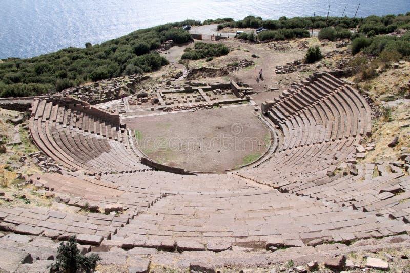 Θέατρο σε Assos στοκ φωτογραφία με δικαίωμα ελεύθερης χρήσης