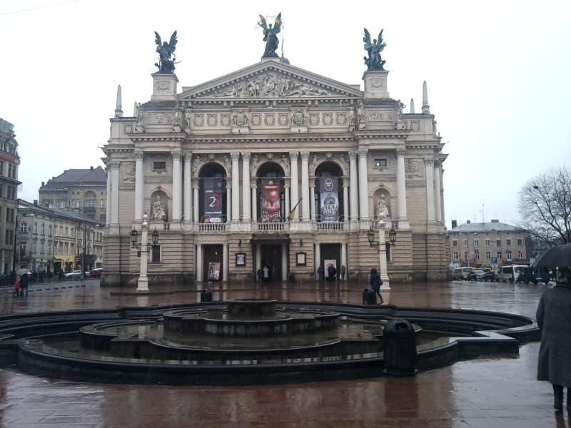 Θέατρο σε Lviv στοκ εικόνες