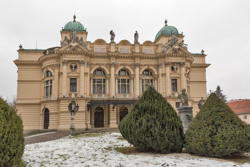 Θέατρο στην παλαιά πόλη της Κρακοβίας, Πολωνία στοκ φωτογραφία