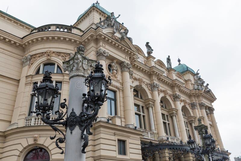Θέατρο στην παλαιά πόλη της Κρακοβίας, Πολωνία στοκ εικόνες με δικαίωμα ελεύθερης χρήσης