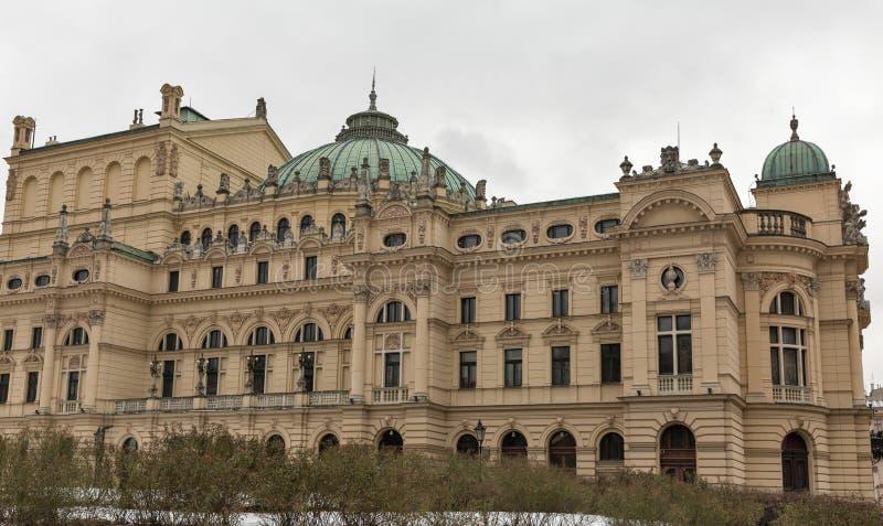 Θέατρο στην παλαιά πόλη της Κρακοβίας, Πολωνία στοκ φωτογραφίες με δικαίωμα ελεύθερης χρήσης