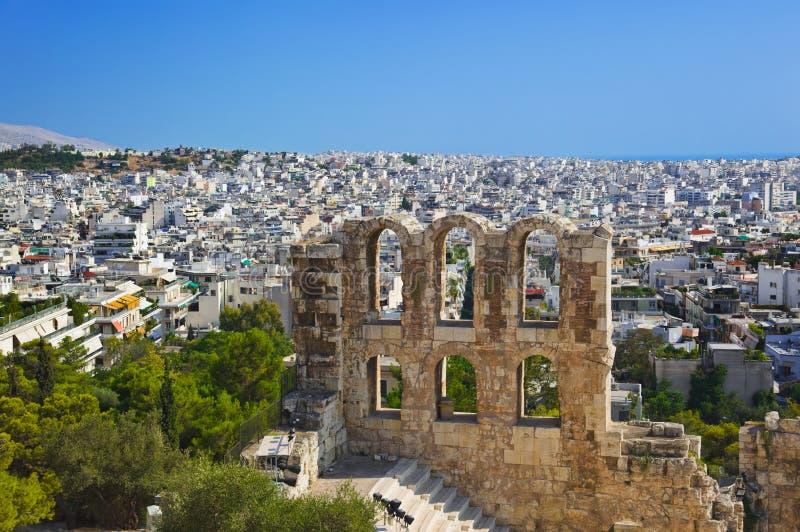 θέατρο της Αθήνας Ελλάδα  στοκ εικόνες με δικαίωμα ελεύθερης χρήσης