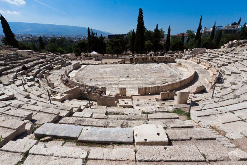 θέατρο της Ελλάδας dionysus της Αθήνας στοκ φωτογραφίες