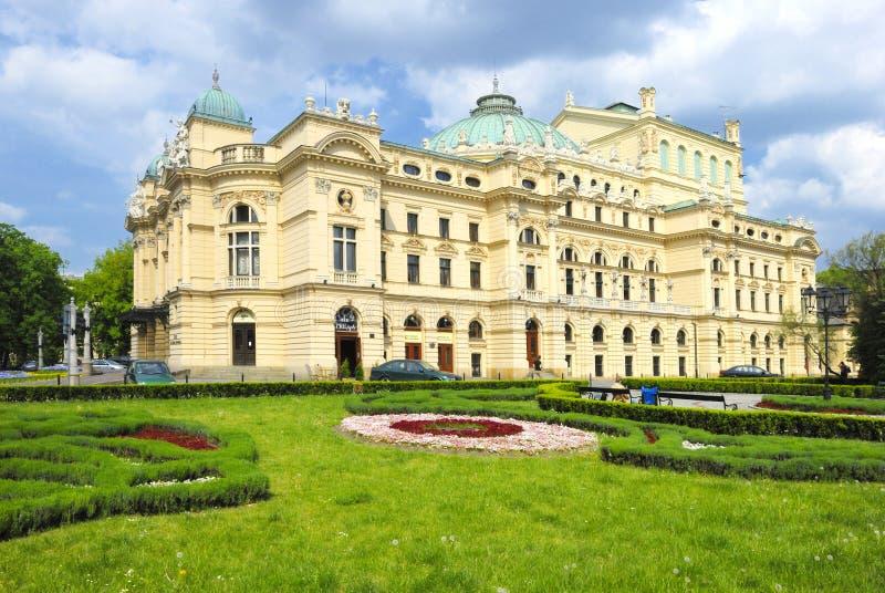 θέατρο της Κρακοβίας στοκ εικόνα