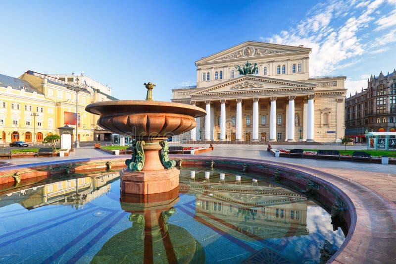 Θέατρο της Μόσχας - Bolshoi στη θερινή ημέρα στοκ φωτογραφία με δικαίωμα ελεύθερης χρήσης