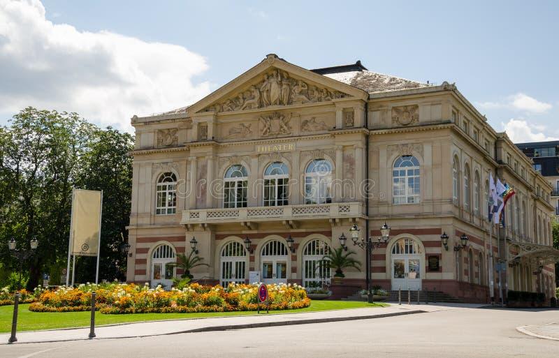 Θέατρο της πόλης Baden - Baden στοκ φωτογραφίες
