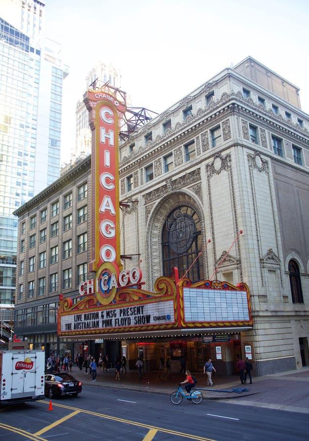 Θέατρο του Σικάγου, Σικάγο Ιλλινόις στοκ εικόνες
