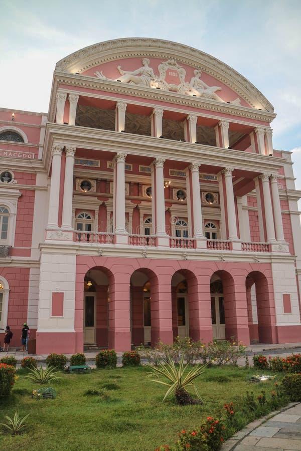Θέατρο του Manaus του λάστιχου στοκ φωτογραφία
