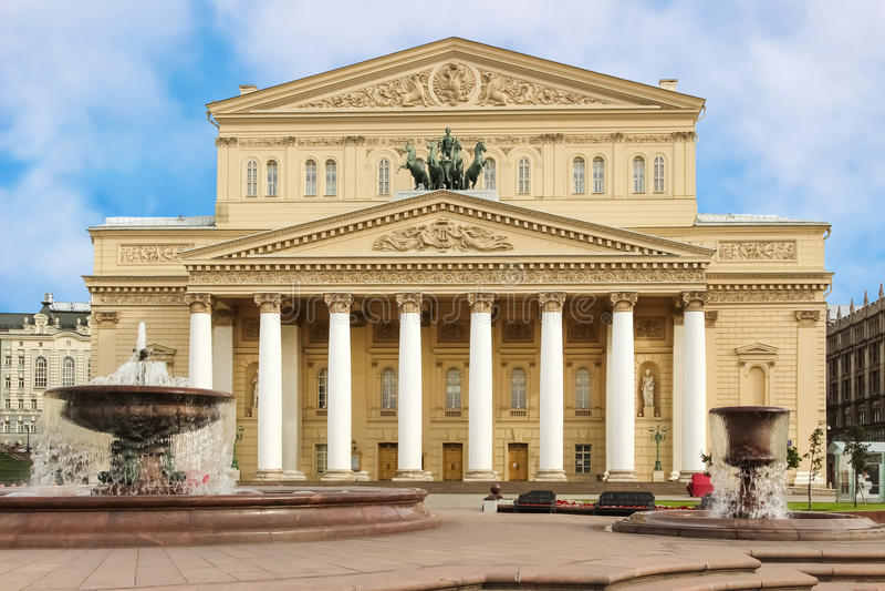 Θέατρο Bolshoi της Μόσχας, Ρωσία στοκ φωτογραφία