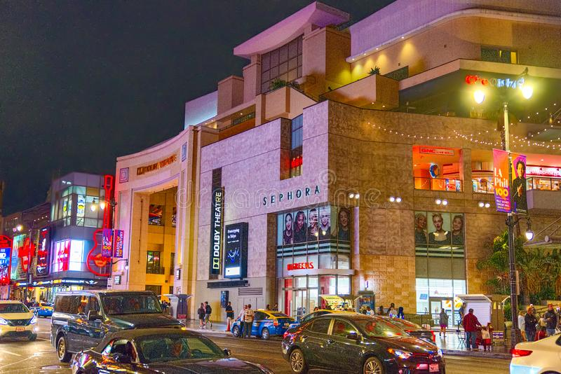 Θέατρο Dolby της Kodak όπου το ετήσιο βραβείο 'Οσκαρ παρουσιάζεται στοκ εικόνα με δικαίωμα ελεύθερης χρήσης