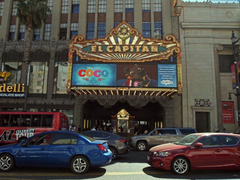Θέατρο EL Capitan, Λ Α στοκ εικόνα με δικαίωμα ελεύθερης χρήσης